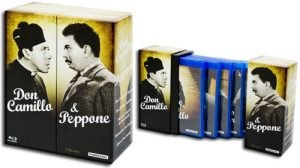 Lo splendido cofanetto della saga Don Camillo e Peppone uscito in Germania, con audio originale in italiano.