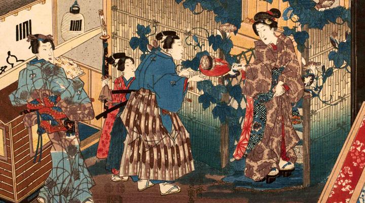 ukiyo-e-scena